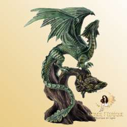 Statue Dragon Vert Pins Anne Stokes