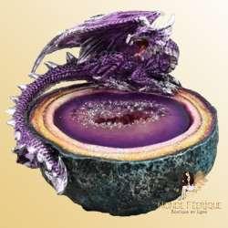 Statuette Dragon Pierre Précieuse -- 13cm