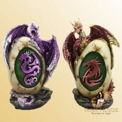 Grands Oeufs Dragons Fantaisie x2