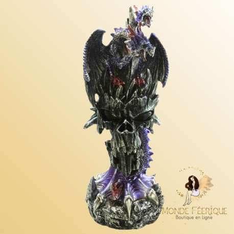 Dragon Lumineux Tête de Mort -- 24 cm