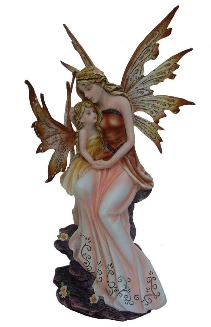 Figurine Fée avec un Enfant