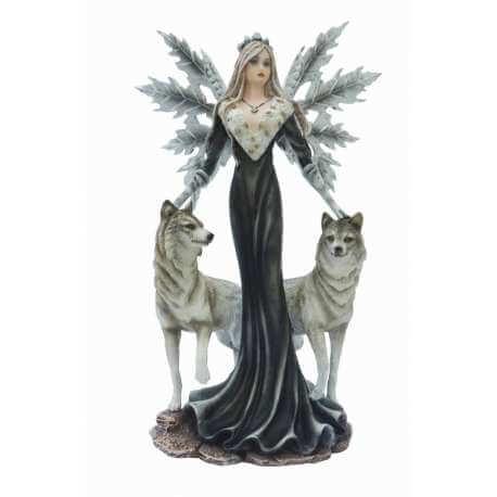 Figurine Fée Blanche avec Loups
