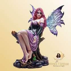 Statuette Fée Fémina Magie des Chats 39cm