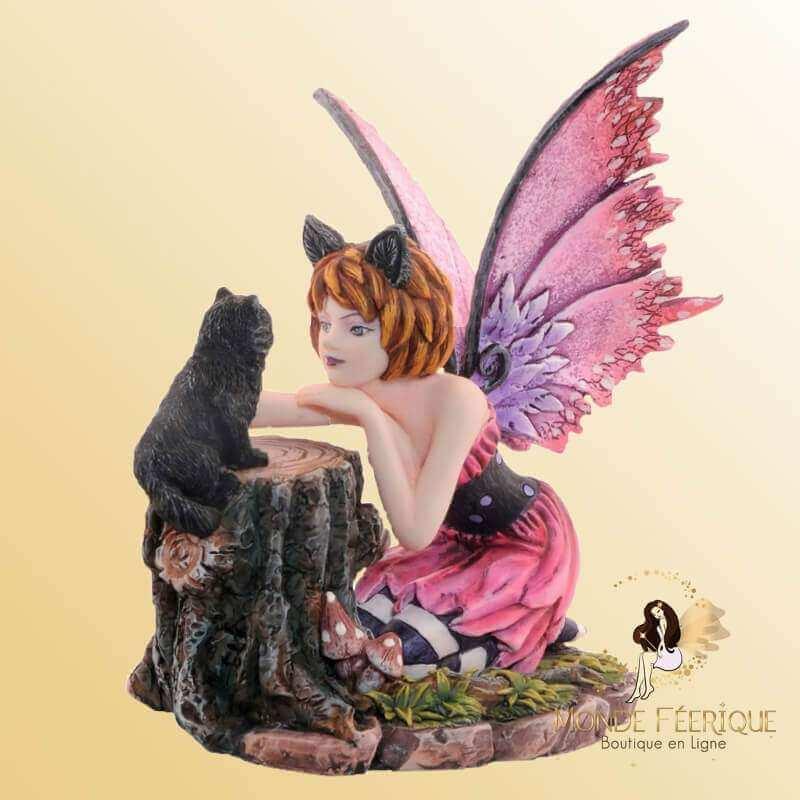 """Figurine Fée Fantaisie """"Amour des Chats"""""""