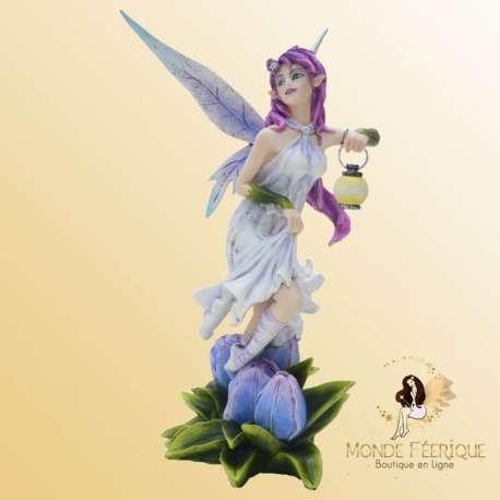 Statuette Fée Lanterne Clairière