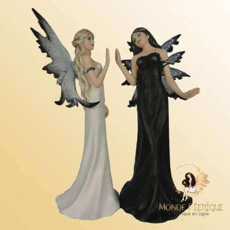 2 Statuettes Fées Soeurs Jumelles