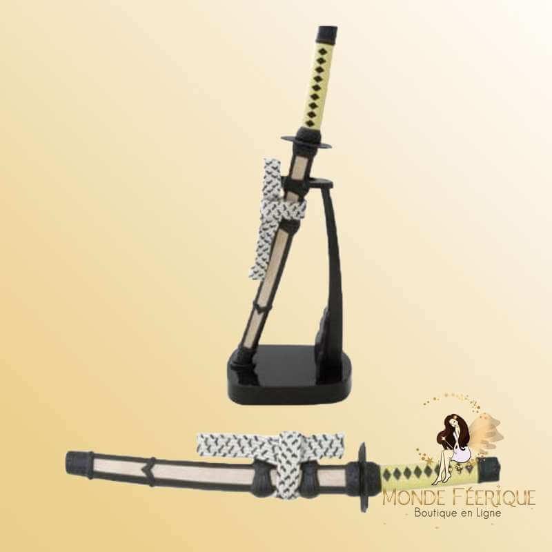 Epée Décoration Losange Jaune & Noir 22cm