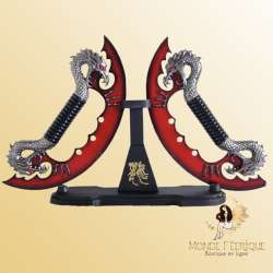 Dague Couteaux Dragons Rouge lames decorations