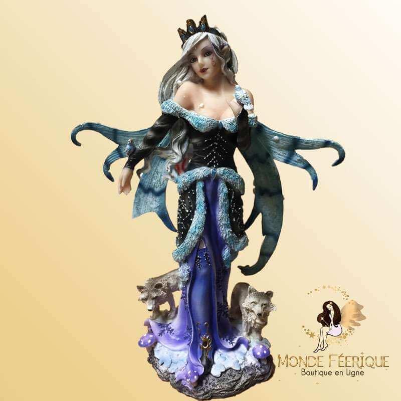 Figurine Fée Reine des Renards -- 24cm