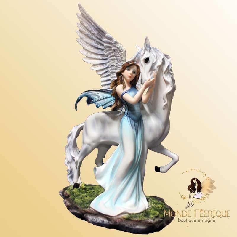 "Grande figurine fée Licorne ""Magie Vallons"" -- 29cm"