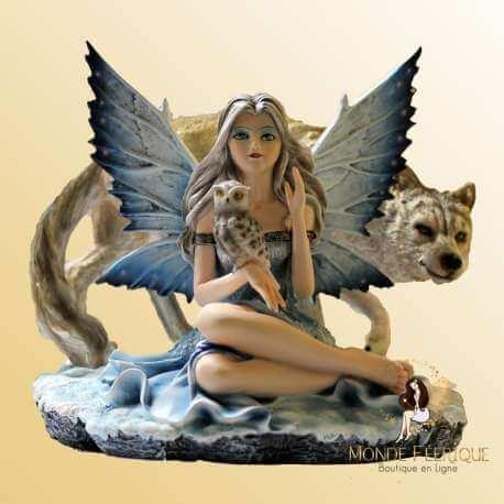 Figurine Fée Grande Loups Style