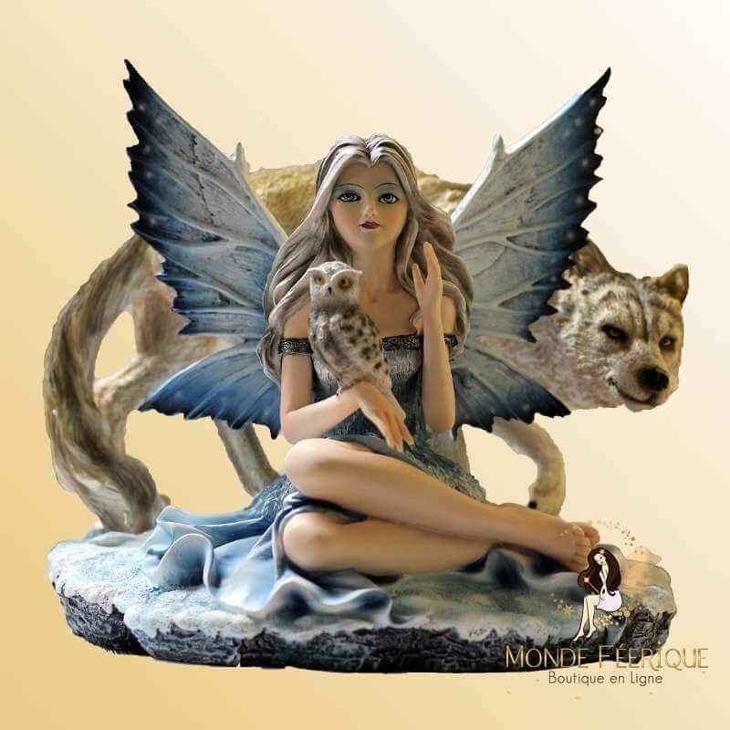 Figurine Fée Grande Loups Style -- 28cm