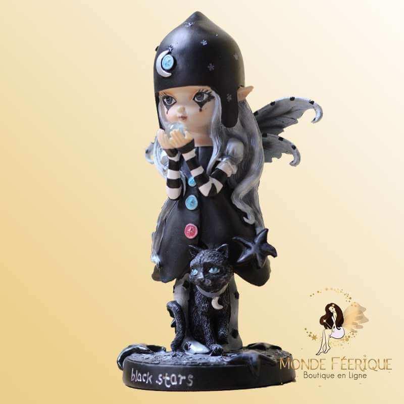 Figurine Fée Black Magicienne -- 16,5cm