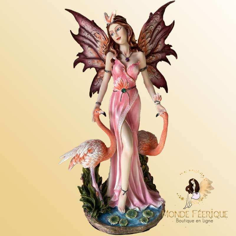 """Grande Statuette Fee """"Les Flamands Roses"""""""
