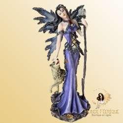 Statue Fee Louve Cristal -- 24cm
