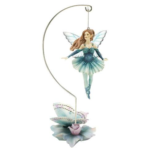 FIGURINE FEE JESSICA GALBRETH - TEAL ENCHANTMENT