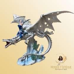 """Statuette Fée """"La puissance des Dragons"""" -- 42 cm"""