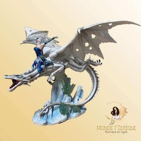 """Statuette Fée 42 cm """"La puissance des Dragons"""""""