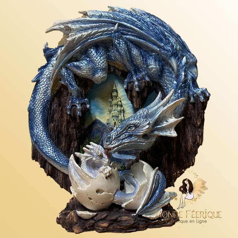 Scène Dragon avec Bébé Dragon