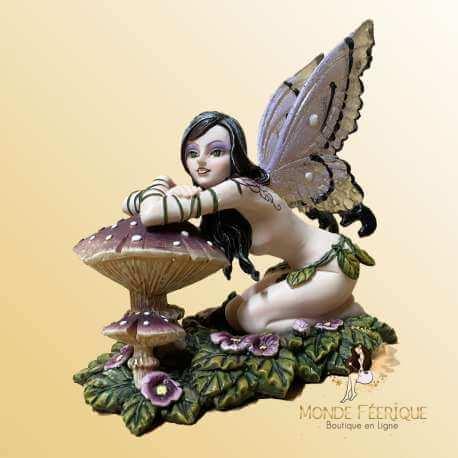 Figurine Fée Contemplative Champignon