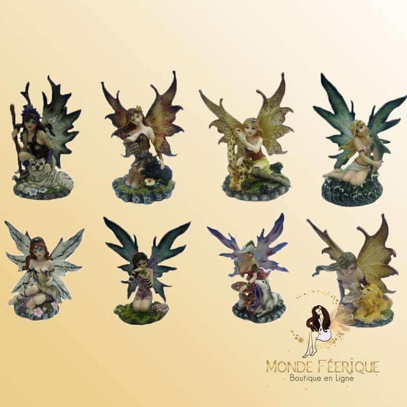 Série Figurine Fées & Animaux x8