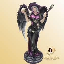 Statuette Fee Ange gothique noire