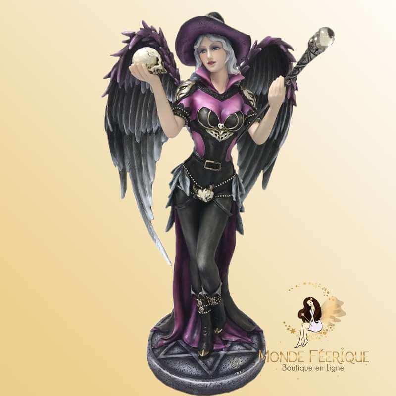 Statue Fee Ange Black -- 40cm