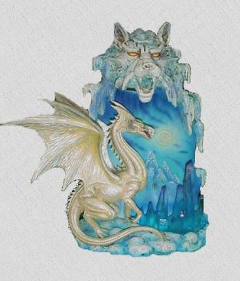 LAMPE FIGURINE DRAGON