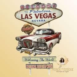 Plaque Métal Las Vegas USA 78cm