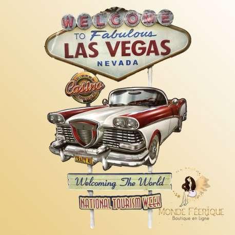 Plaque Métal décoration Las Vegas USA
