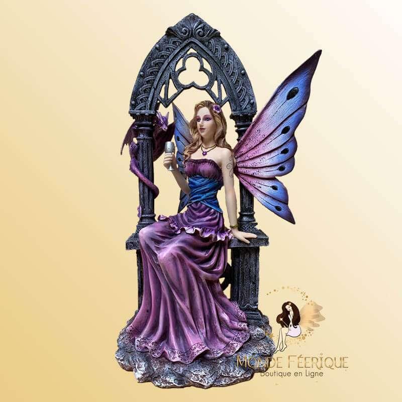 """Statuette Fée Gothique """"la Reine du Bal"""""""