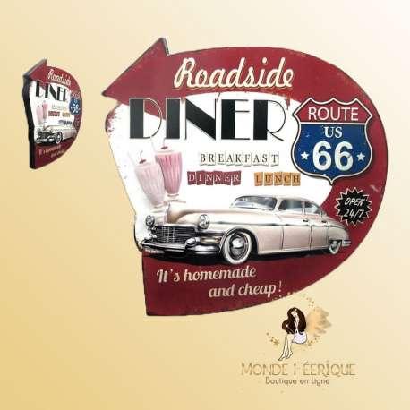 Plaque Décorative USA Vintage -- 41cm