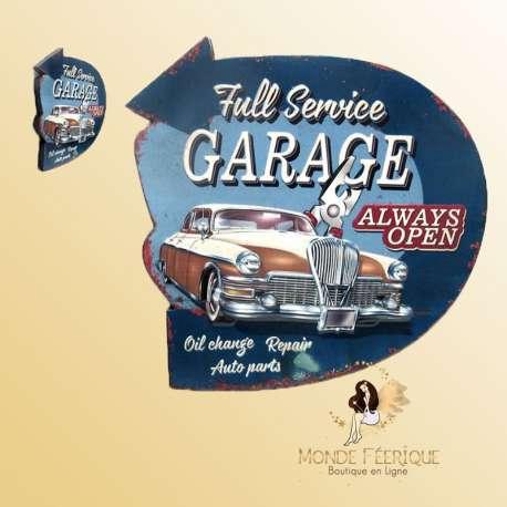 Plaque Décoration Vintage Garage -- 41cm