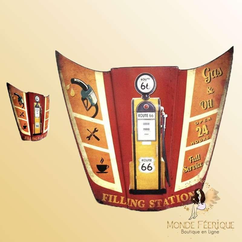 Capot décoration Vintage Thème Etats-Unis