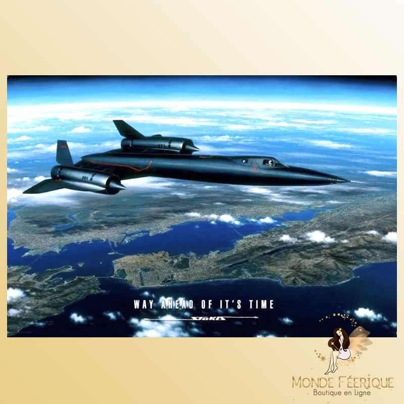 Plaque Métal Décoration Avion de chasse -- 20x30cm
