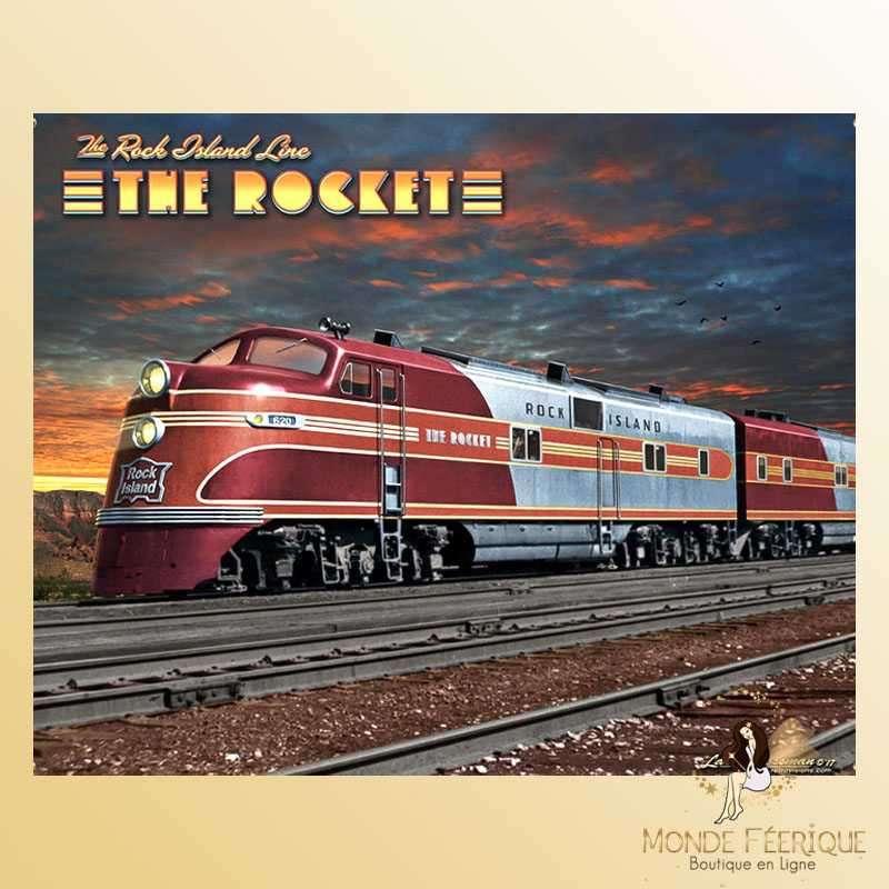 Plaque Méta Trainl Décoration -- 20x30cm