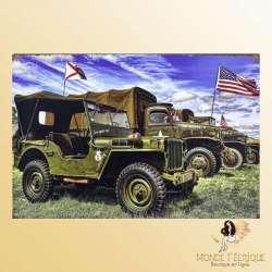 Plaque Vintage Décoration Armée Americaine -- 20x30cm