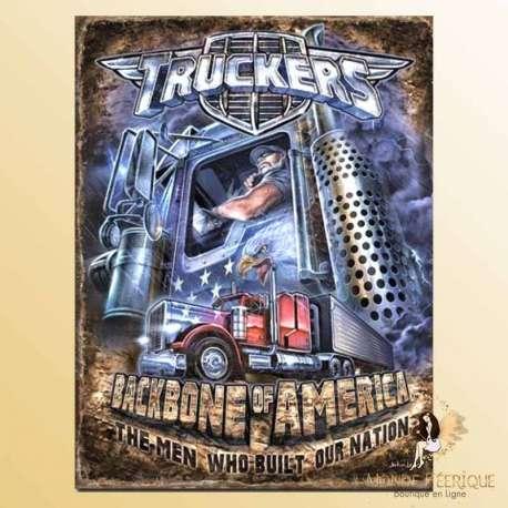 plaque deco metal camion truck routier