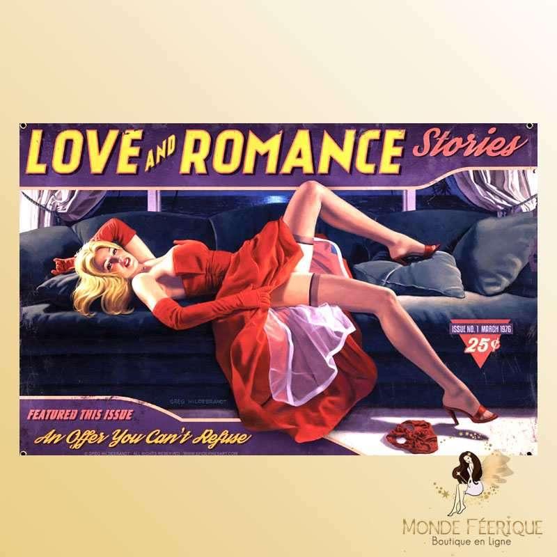 Plaque Vintage Décoration Romance -- 20x30cm