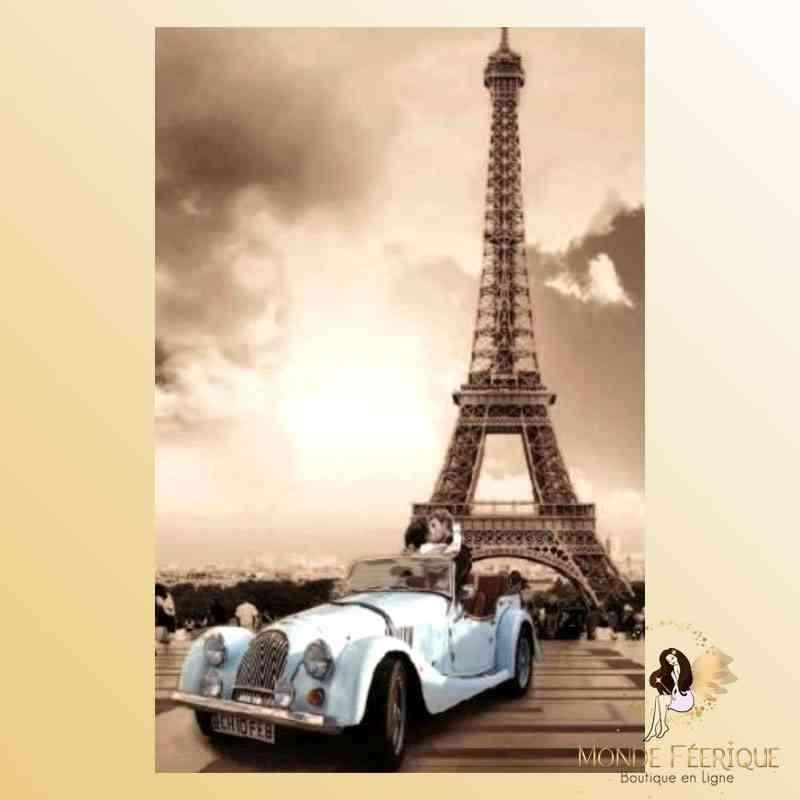 Plaque Vintage Décoration Paris -- 20x30cm