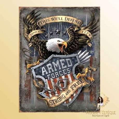 plaque deco USA aigle republicains democrates