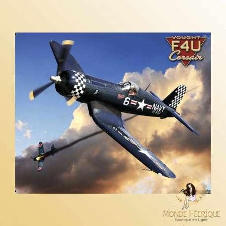 plaque decoration avion de chasse guerre armee Plaque Vintage Décoration