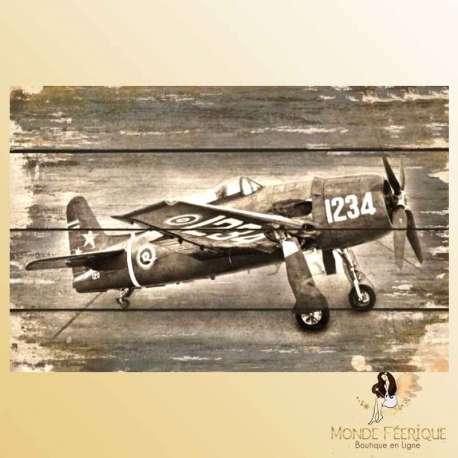 plaque decoration avion de chasse