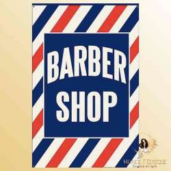 plaque decoration barber shop barbier hipster deco