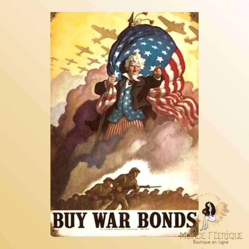 Plaque Mur USA guerre vintage Décoration -- 20x30cm