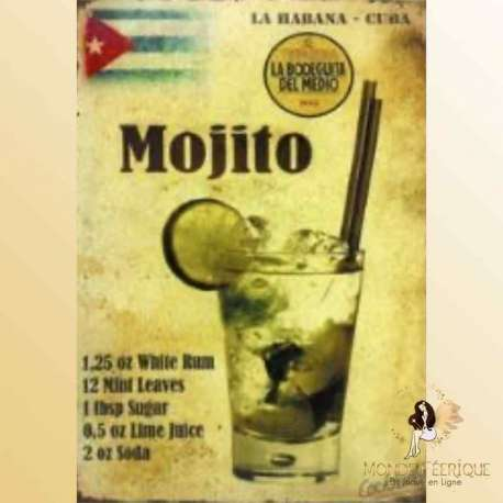 plaque decoration mojito cuba