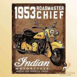 plaque décoration moto indian