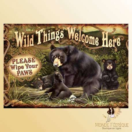 plaque decoration mur animaux sauvages ours publicite ancienne zoo