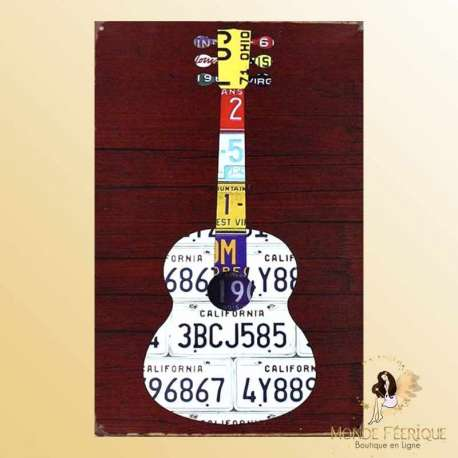 plaque decoration murale musique guitare