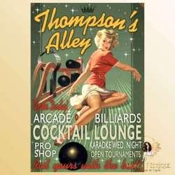 plaque decoration pin up publicitaire publicité pub ancienne vintage retro